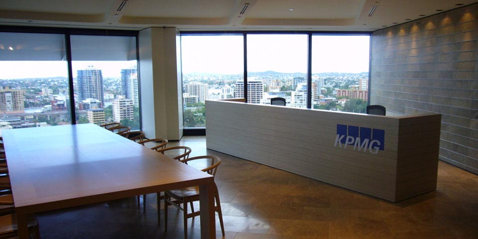 Kpmg fit out relocation for Office design brisbane