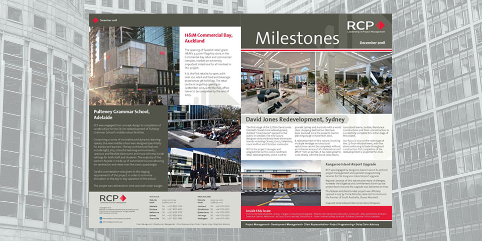 RCP Milestones Newsletter Dec 2018